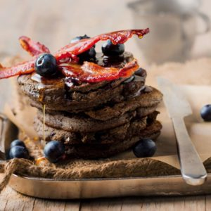 Buckwheat and coconut pancakes topped with crispy bacon? Bring ithellip