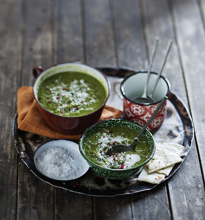 Chilled Curried Pea Soup