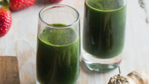 Spinach and ginger flu shots