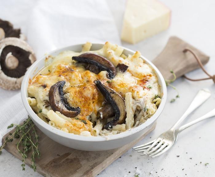 Smoky mushroom mac & cheese