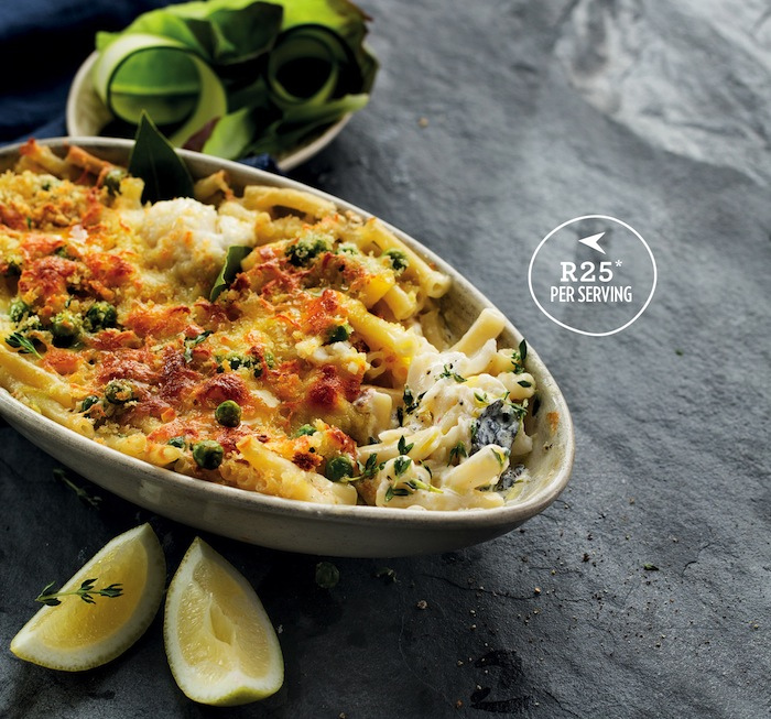 Creamy fish and pasta bake ... Plus use those leftovers for fish cakes