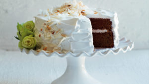 Rooibos cake with whipped coconut cream