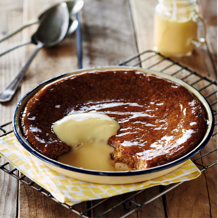 Maize malva pudding