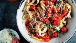 Pork and Parmesan tagliatelle