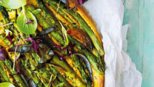 Asparagus and red onion fritatta on mykitchen.co.za