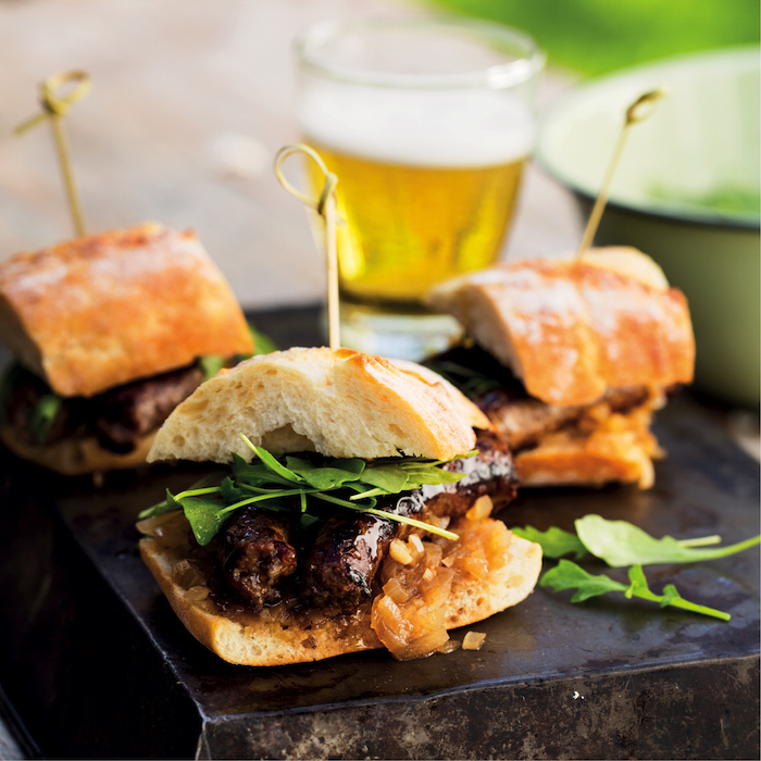 Sherry boerewors sliders