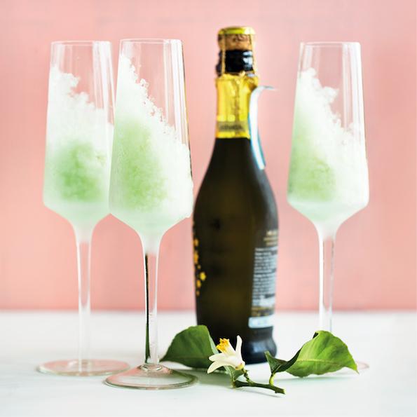 Apple granita and sparkling wine on mykitchen.co.za