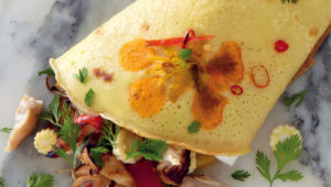 Nasturtium pancake wraps on mykitchen.co.za