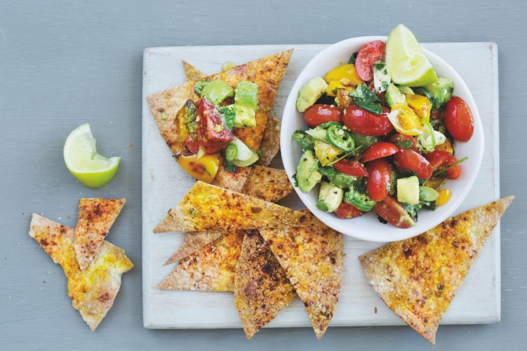 Tomato salsa and tortilla chips on mykitchen.co.za
