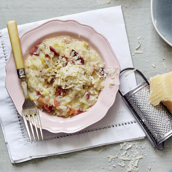 Bacon and apple risotto