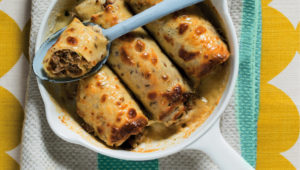 Mackerel and ricotta cannelloni