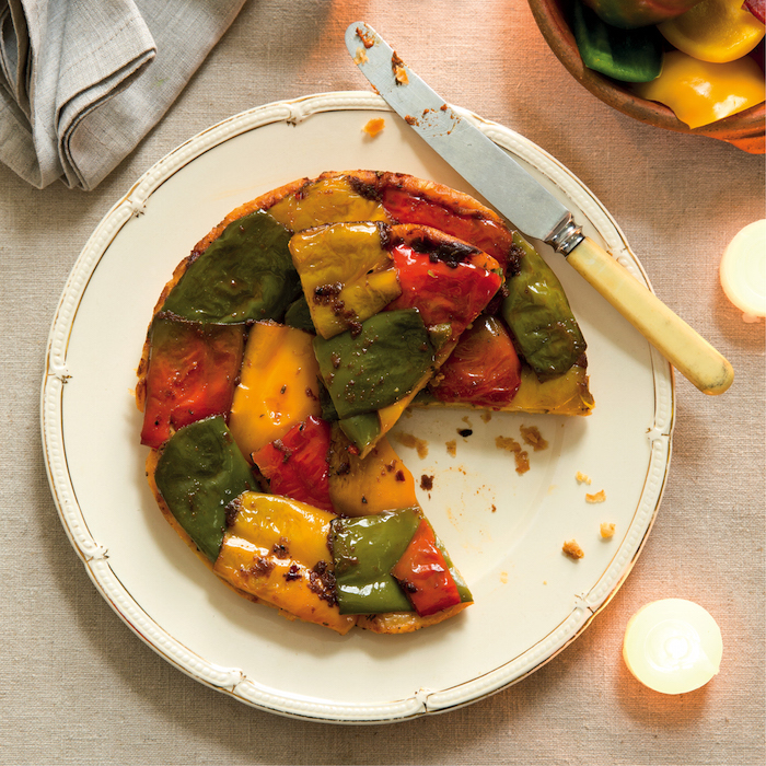 Mixed pepper tarte Tatin