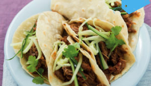 We're making tacos! Pulled-brisket tacos!