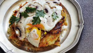 ROAST GARLIC HASH BROWNS