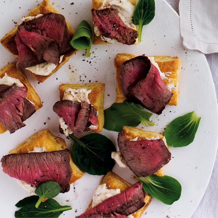 Roast beef puffs