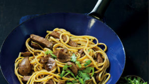 Steak and kidney pasta