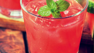 Watermelon and ginger punch