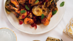 Roxy's cherry, apple and cider-glazed chicken