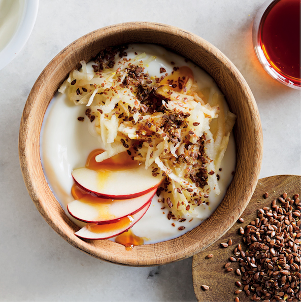 Apple and linseed breakfast bowl