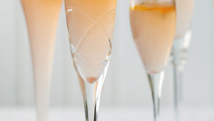 Cardamom, basil and grapefruit mimosas
