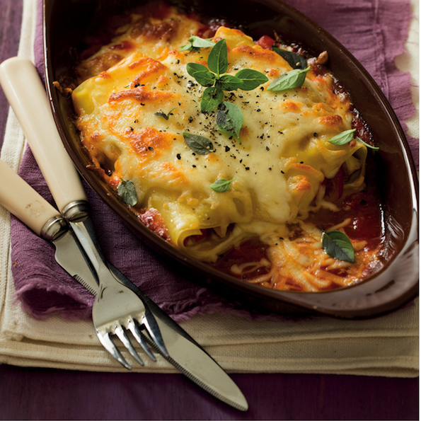 Chicken and red pepper lasagne