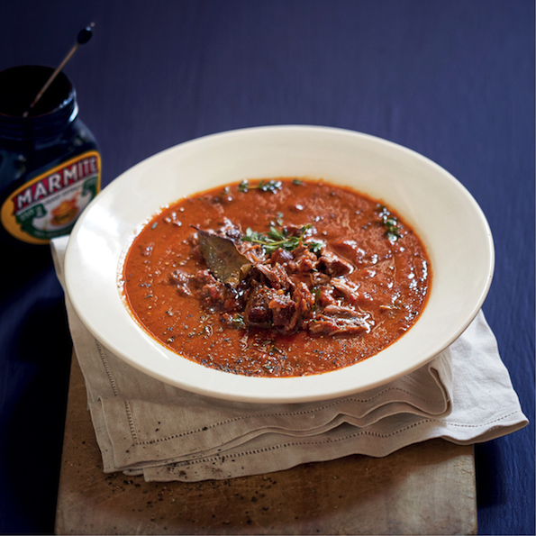 Marmite and oxtail soup