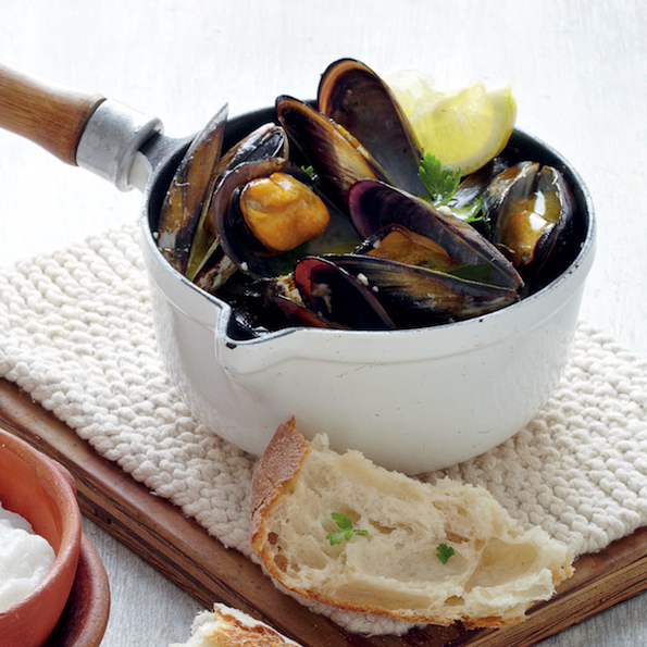 Mussel cider pot