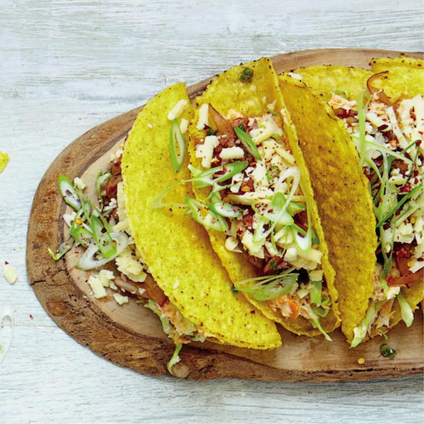 Smoked snoek tacos