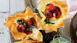 eggy phyllo tarts