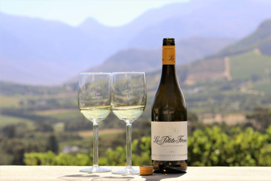 La Petite Ferme Chardonnay and view