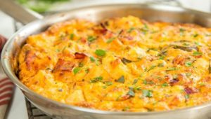 All gold breakfast frittata