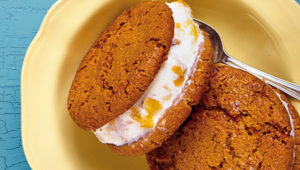 Ginger biscuit and koeksister ice cream sandwiches