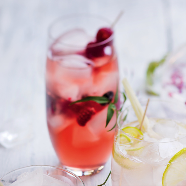 Rum and berry cocktail