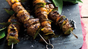 Lamb and apricot sosaties