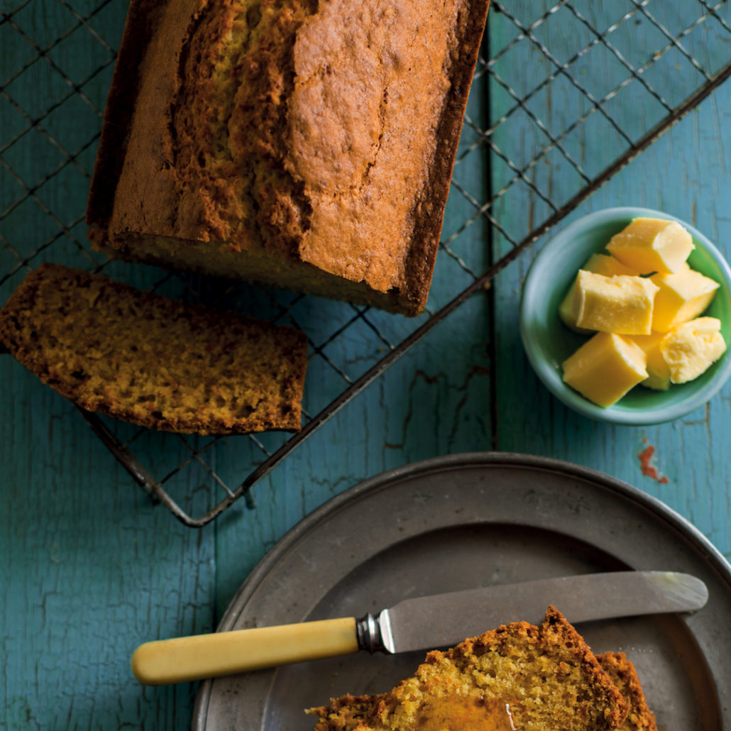 Pumpkin bread with honey
