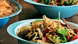 Honeyed beef and broccoli stir-fry