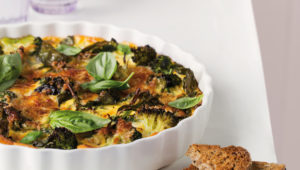 Broccoli and oat crustless quiche
