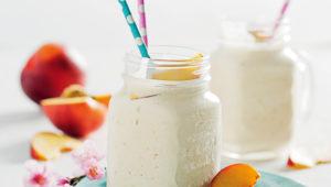 Nectarine milkshakes