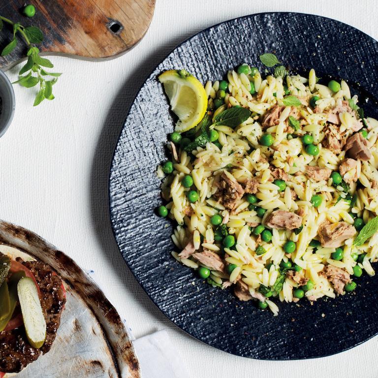 Tuna and pea pasta