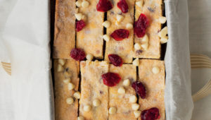 Cranberry and white chocolate shortbread