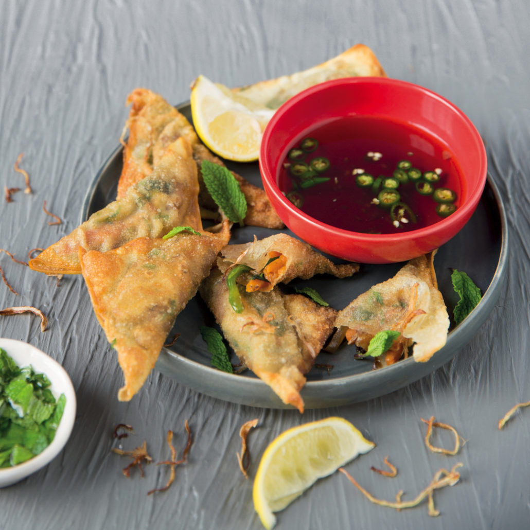 Crispy Asian dumplings