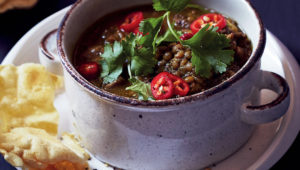 Curried lamb and lentil soup