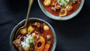 Meaty winter minestrone