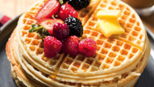 Sweet French toast waffles