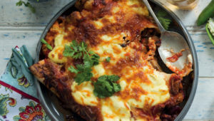Chicken and kidney bean enchiladas