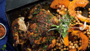 Moroccan roast chicken