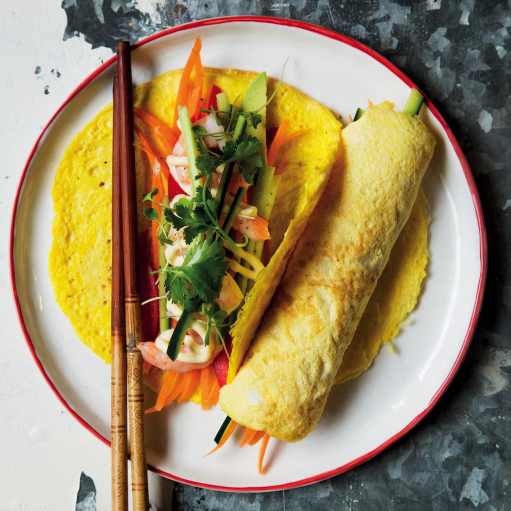 Asian egg wraps