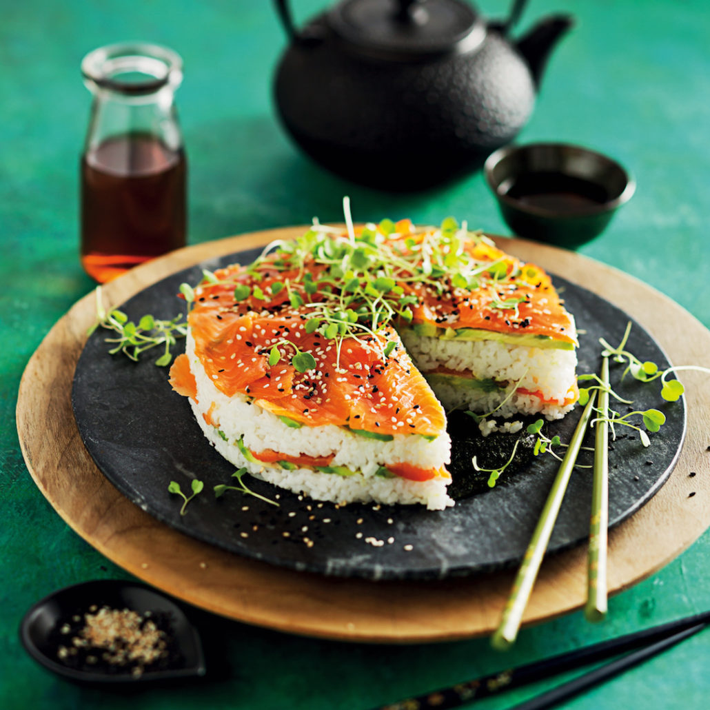 Avo sushi cake