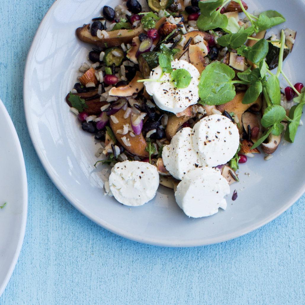 Black bean and veggie rice salad