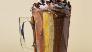 Banana split health shake